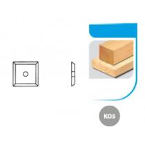 Boîte de 10 plaquettes réversibles carbure K05 17x17x2,0