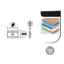 Boîte de 10 plaquettes réversibles carbure SMG-02 2 Coupes - 35° 1 trou