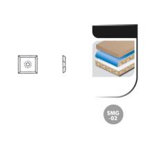 Boîte de 10 plaquettes réversibles carbure SMG-02 4 Coupes - 35° 14x14x2,0 AL 6.8
