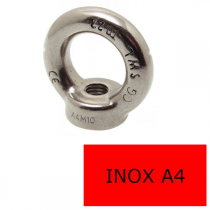Anneau Femelle Inox A4 M Ø 10 (Prix à la pièce)