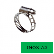Blister 2 colliers 9 mm inox A2 8-16