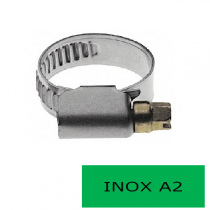 Blister 2 colliers 13 mm inox A2 20-32