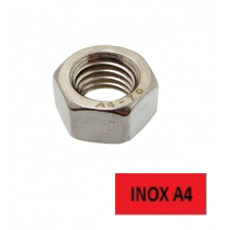 Ecrous hexagonaux Inox A4 Ø 12 BTE 100 (Prix à l'unité)