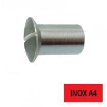 Écrous relieur TFB fendus Inox A4 5 x 15 BTE 100 (Prix à l'unité)
