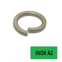 Rondelles Grower DIN 127 B (2,6x5,1x0,6) inox A2 Ø 2.5 BTE 500
