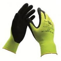 Gant textile tricoté haute visibilité jaune nymv15hvg