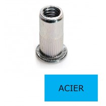 Ecrou à sertir tête plate GOFIX ACP Acier M6 x 17.5 BTE 200 (Prix à la boîte)