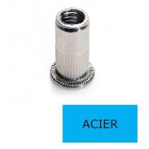 Ecrou à sertir tête plate GOFIX ACP Acier M8 x 20 BTE 150 (Prix à la boîte)