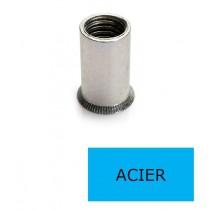 Ecrou à sertir tête fraisée GOFIX ACF Acier M8 x 16.5 BTE 150 (Prix à la boîte)