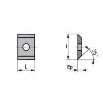 Boîte de 10 plaquettes réversibles carbure 1 trou