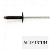 Rivet tête large éclaté GOSTAR TL alu-acier noir 4.8 x 10 BTE 250 (Prix à la boîte)