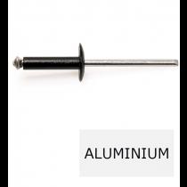 Rivet tête large éclaté GOSTAR TL alu-acier noir 4.8 x 12 BTE 250 (Prix à la boîte)