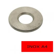 Rondelles plates Inox A4 L Ø 5 BTE 200 (Prix à l'unité)
