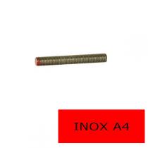 Tige filetée DIN 976 inox A4 1 m Ø 2.5