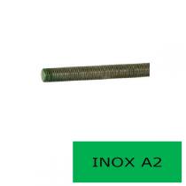 Tige filetée DIN 976 inox A2 1 m Ø 33