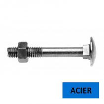 Boulon TRCC DIN 603 acier zingué classe 4.8 filetage partiel 10 x 110 (Prix à l'unité)