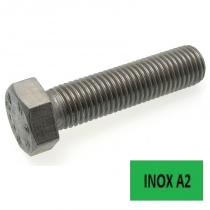 Vis TH ISO 4017 Inox A2 filetage complet 10 x 100 boîte 50 (Prix à l'unité)