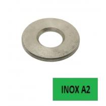 Rondelles plates Inox A2 M Ø 4 BTE 200 (Prix à l'unité)